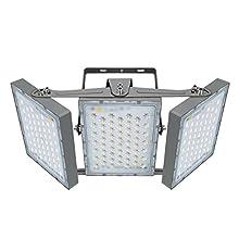 Projecteur LED 300W, IP65 Imperméable, 27000LM, Eclairage Extérieur LED, Equivalent à Ampoule Halogène 1800W, 5000K Lumière Blanche du Jour, Projecteur réglable pour granges, cour et garage