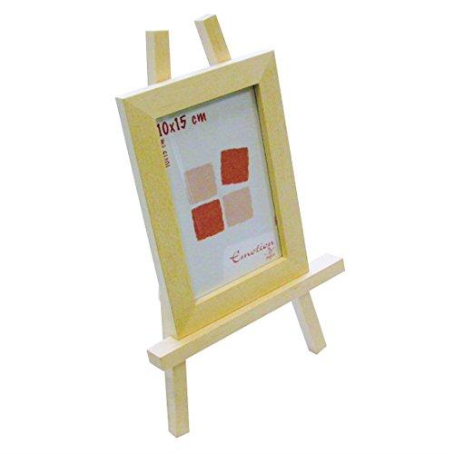 Mini Staffelei mit Fotorahmen / Bilderrahmen 18x13cm - Holz natur zum Bemalen & Selbstgestalten, Höhe Staffelei 30cm