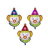 Toyvian 12 Pezzi Palloncini Carnevale Pagliaccio Palloncini Foglio di Alluminio Decorazioni per Feste da Circo Festival di Natale per Bambini Forniture per Feste di Compleanno