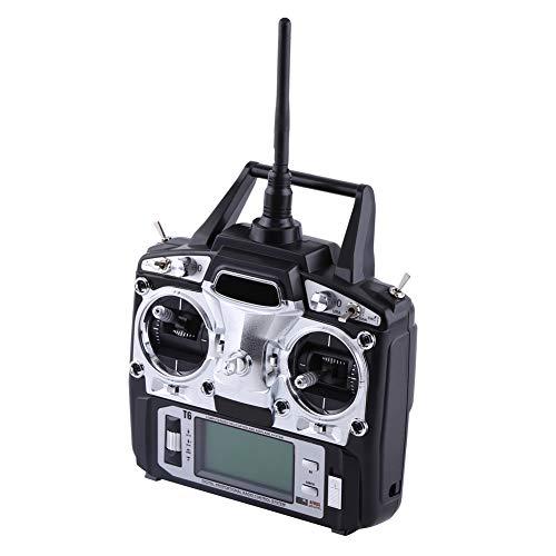 Cocoarm FS-T6 -RB6 FS Fernsteuerung Radio-Control 6 Kanäle RC Sender mit Empfänger 2.4000-2.48GHz für Segelflugzeug Heli Flugzeug (Radio Control Flugzeuge)