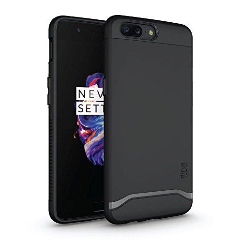 OnePlus 5 Hülle, TUDIA Slim-Fit Merge Dual Layer Schutzhülle für OnePlus 5 (Matte Black)