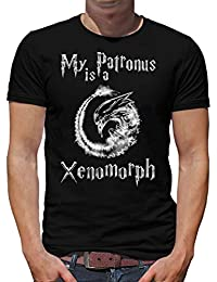 Touchlines Merchandise My Patronus is a Xenomorph T-Shirt Camiseta para Hombre