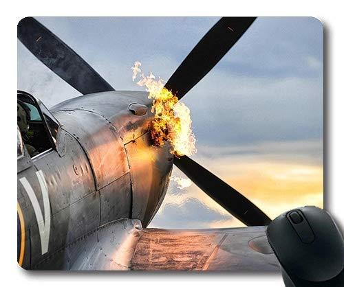 Weltkrieg Flugzeuge, Mauspad, Kämpfer Kostüm, Mauspad mit genähten Kanten