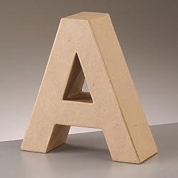 Letra de cartón - MEDIDAS: Altura (17,5 cm) Anchura (15 cm) Fondo (5,5 cm)