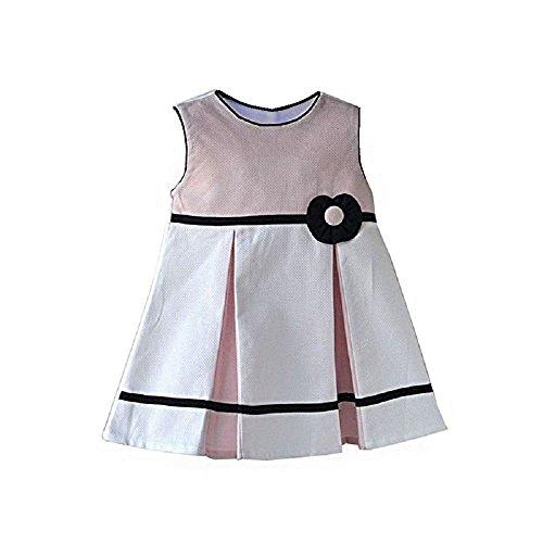 Cute & Trendy Baby Piquet-Kleid Mädchen festlich Feier edel Faltenrock schwarz rosa K16 (92) (Mädchen Schwarze Weiße Und Kleider Kleine Für)