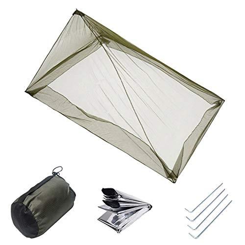 XEHbaby Mosquito Camping Insektennetz mit Tragetasche für Einzel-Campingbett, kompaktes und leichtes Pyramidenetz, für Schlafsäcke, Bett, Zelt
