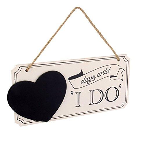 Ai bearty Tage, bis Ich Herz aus Holz Hochzeit Countdown Tafel Schild Bridal Dusche Geschenke (Tafel-hochzeits-countdown)