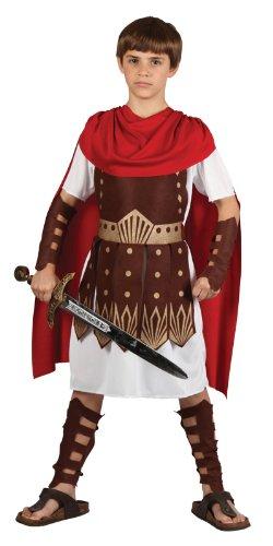 Imagen de traje del disfraz del partido de la víspera de todos los santos de muchachos roman gladiator centurion 8/10 años disfraz  alternativa