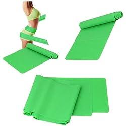 1.5m Banda Resistencia Elastica Ejercicio Yoga Pilates Fitness Verde