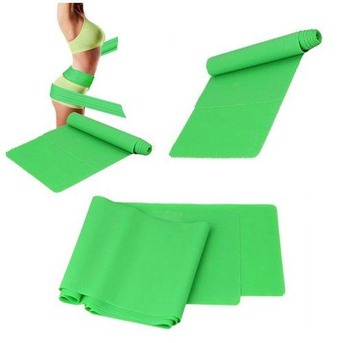 SODIAL(R) 1.5m Banda Resistencia Elastica Ejercicio Yoga Pilates Fitness Verde