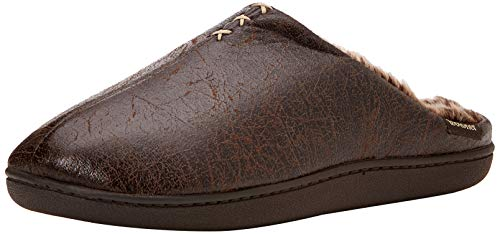 Isotoner Distressed Mule Slippers, Pantoufles Homme