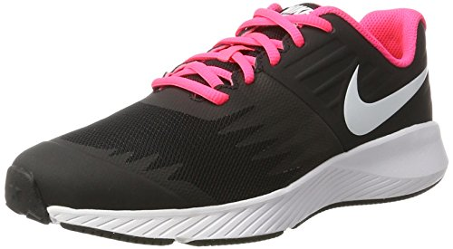 Nike star runner (gs), scarpe da trail running bambina, nero (black/white/volt/racer pink 001), 35.5 eu