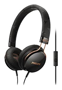 Philips SHL5305BK Fixie On Ear Stereo Headphones with Mic - Black