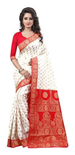 Rajgharana Saree House Art Silk Saree (A- Durga Puja Special 1_White)