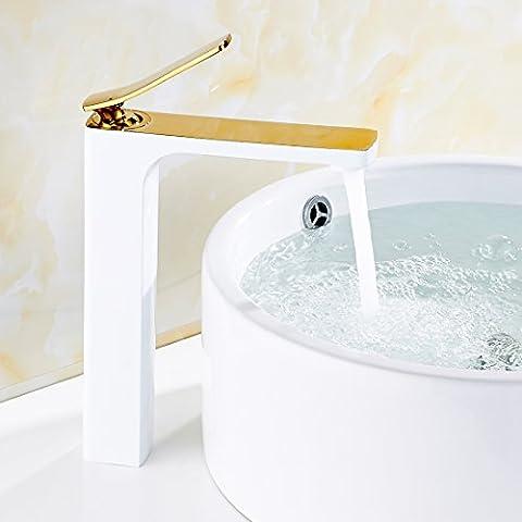 Gimili Waschbecken Armaturen Mischbatterie Badezimmer Armatur Wasserhahn Bad Gold Weiß