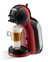 Krups Dolce Gusto KP120H Nescafe, Mini Me automatische Kaffeekapselmaschine, cherry rot / schwarz