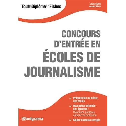 Concours d'entrée en écoles de journalisme