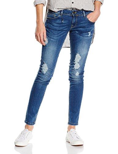 ONLY Damen Slim Jeanshose onlCORAL SL SK DEST. CRE8438 NOOS, Gr. W26/L32 (Herstellergröße: 26), Blau (Dark Blue Denim)