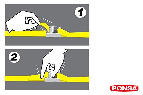 Ponsa - T25 Sangle à boucle professionnel. Résistance rélle a la rupture 500 kg. 3 m/25 mm de sangle Lot de 2 Pièces 027.048.025.612