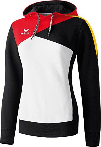 erima Damen Sweatshirt Hoodie Weiß/Schwarz/Rot/Gelb