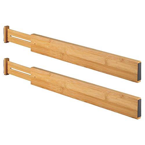 Wa-Very Bambus Küche Schublade Teiler Schubladen-Organisatoren Erweiterbare Schubladen-Teiler Holz Schreibtisch Schublade Organisatoren, Fach Organizer für Küche, Baby Schublade, Badezimmer (Holz-küche-schublade Teiler)