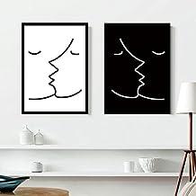 zzzsyzxl blanco y negro decorativo pintura abstracta simples modernos juegos de caf frescos - Cuadros En Blanco Y Negro
