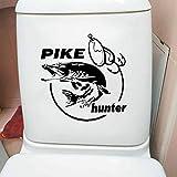 JIWAWAR 2,2x23,1 CM WC Wc Aufkleber Pike Hunter Fun Fish Wandtattoo Wohnkultur