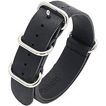 Bracelet NATO Bracelet de Montre en Cuir Véritable Crazy Horse 18mm 20mm  22mm Premium Bandes de 69dc325b6ac