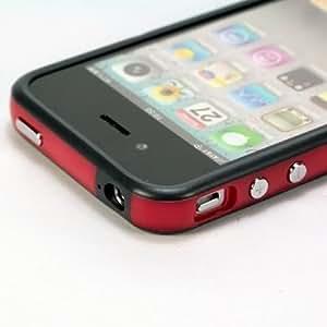 BUMPER DE protection pour iPhone 4 IPHONE 4S COULEUR ROUGE NOIR