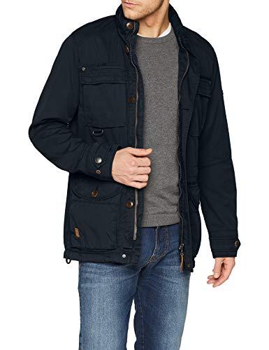 camel active Herren 420210 Jacke, Blau (Navy 43), X-Large (Herstellergröße: 52)