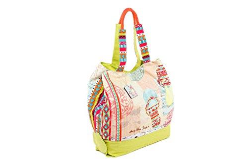 Badetasche Strandtasche FLIPFLOP aus bunter Baumwolle