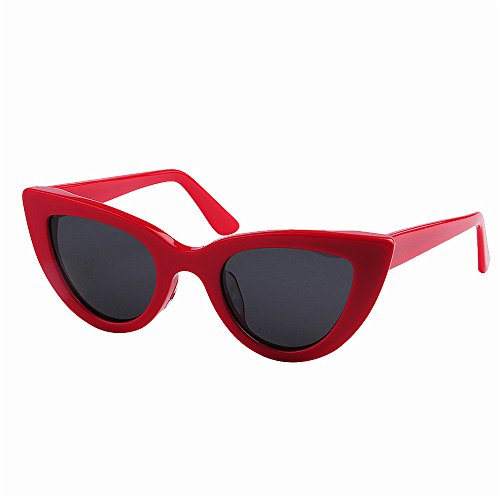 Ppy778 Lady Cat Eye Sonnenbrille, polarisierte TAC-Linsen, Party UV400-Schutz (Color : RED)