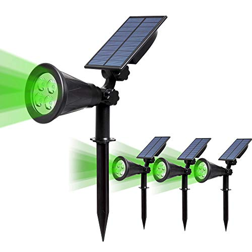 (4 Unidades )T-SUN Foco Solar, Impermeable Luces Solares Exterior, Luz de Jardín,...