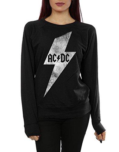 AC/DC Femme Lightning Bolt Sweat-Shirt Noir