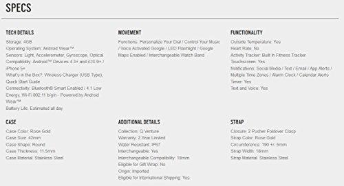 Fossil Venture Analog-Digital Black Dial Women's Watch-FTW6000