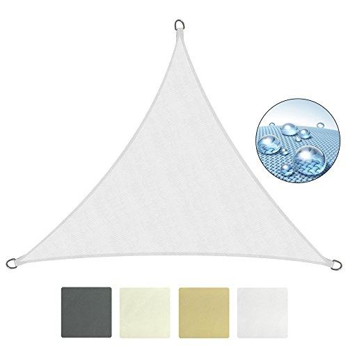 Sol royal tenda a vela impermeabile triangolare 360x360x360 cm solvision ps9 - protezione anti raggi uv - bianco