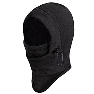 Trixes Balaclava, Thermo Sturm-, Kopfhaube aus Fleece, Hals-, Kopf- & Nackenwärmer in Einem – Sturmhauben & Masken