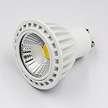 Alta calidad bombillas, 6W E14GU10E26/E27E11LED Spotlight G501COB 300–350LM Blanco Cálido Blanco Frío 3000K/4200K/6000K K Blanco Natural decorativa regulable DC para hogar y cocina, White-110V, GU10