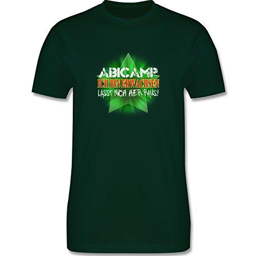 Abi & Abschluss - ABICAMP - ich bin erwachsen lasst mich hier raus! - Herren Premium T-Shirt Dunkelgrün