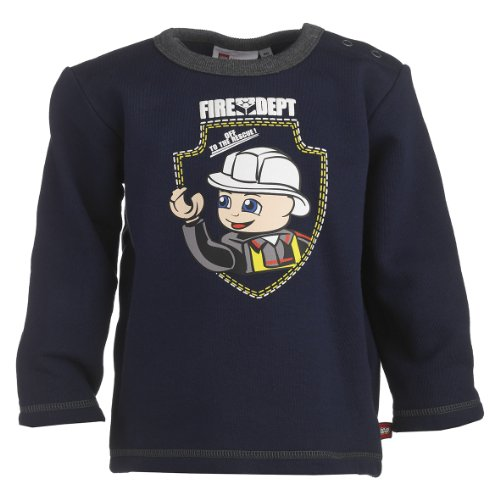 Lego Wear Baby-Jungen Sweatshirt 13974 SAMSON 702-SWEATSHIRT, Gr. 92, Blau (588 MIDNIGHT BLUE)