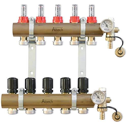 Preisvergleich Produktbild Abgassammler vormontiert – 26 x 34 – D16 – 5 Schaltungen mit débimètre Felgenbremsen Verschraubungen und teilig Terminales – Altech