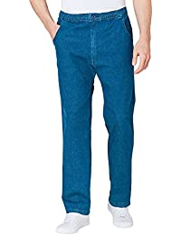 Chums Mens Elasticated Waist Drawcord Denim Trousers Jeans