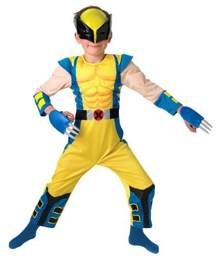 Wolverine - Gepolsterte Deluxe - Kinder- KostŸm - Small - (Wolverine Outfit)