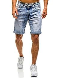 BOLF – Jeans shorts – Pantalons courts – Jogging – Denim – Motif – Homme [7G7]