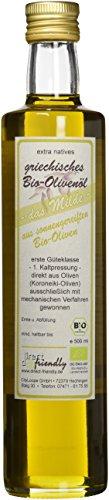 Extra natives Premium Bio Olivenöl kaltgepresst von der Mani in Griechenland