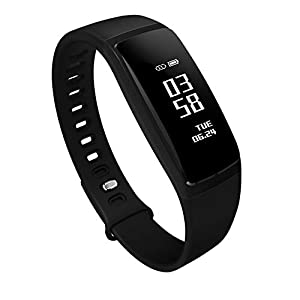 AUPALLA Fitness Trackers, 21BP Smart band Activity Trackers With Blood Pressure Measure Heart Rate Monitor Sleep Monitor Pedometer Calories Track Stopwatch ONLY Support iPhone Android Smartphone