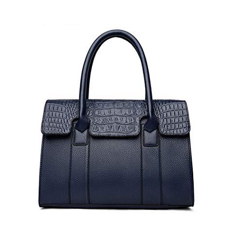 JUND Kroko Leder Temperament Henkeltasche Damen Classic Handtaschen Groß Fashion Lässig ()