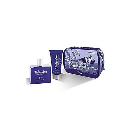 mascalzone latino - cofanetto blu - eau de toilette 100 ml + shower gel 100 ml + beauty case