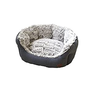 Nobby Cacho Oval Comfort Bed, 55 x 50 x 21 cm, Grey Blue