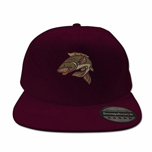 2402d0fe ... Snapback Hats for Men Flat Peak Caps Carp Fishing Animal Face Baseball Cap  Embroidered Summer Mens ...